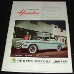 1959 Humber 3-Litre Super Snipe Car Ad, Magnificent!!