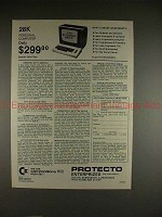 1982 Proteco Enterprises Commodore VIC 28k Computer Ad!