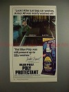1982 Blue Poly Protectant Ad w/ Jackie Stewart - Look!