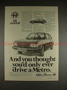 1982 Alfa Romeo Alfasud Car Ad - Thought You'd Drive!