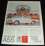 1959 Austin A55 Cambridge Mk II Car Ad, Swift Line!!