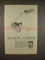 1923 Mason Cords Tire Ad - Horse Riding