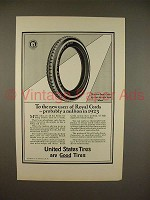 1923 U.S. Royal Cord Tire Ad - To the New Users!