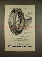 1923 U.S. Royal Balloon Cord Tire Ad - Good Tires!
