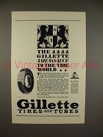 1929 Gillette Ambassador Tire Ad - To the World!