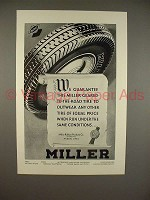 1930 Miller Tire Ad - Geared-To-The-Road!