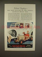 1934 General Dual Balloon Tire Ad - Silent Safety