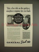 1936 General Dual 10 Tire Ad - Take a Free Ride!