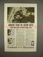 1933 Goodrich Safety Silvertown Tire Ad - Banish Fear