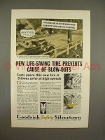 1933 Goodrich Safety Silvertown Tire Ad - Life-Saving