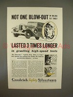 1933 Goodrich Safety Silvertown Tire Ad - Not Blow-out