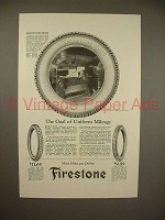 1922 Firestone Cord Tire Ad - Goal of Uniform Mileage