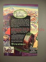 1936 Firestone Tire Ad - Stop Your Car Quicker