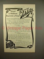 1903 Schlitz Beer Ad - Over a Million Barrels a Year!