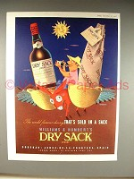 1958 Williams & Humbert's Dry Sack Sherry Ad!