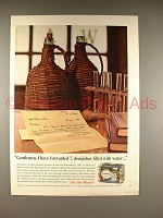 1965 Olympia Beer Ad - 2 Demijohns Filled with Water