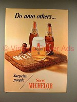 1970 Michelob Beer Ad - Do Unto Others!