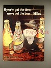 1971 Miller High Life Beer Ad - You've Got the Time
