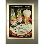 1979 Molson Canadian Beer Ad - Taste the Pride!