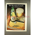 1979 Molson Golden Ale Beer Ad - Taste the Pride!