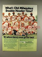 1979 Old Milwaukee Beer Ad - Double Header Time!