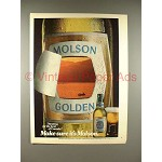 1980 Molson Golden Ale Beer Ad - Make Sure!