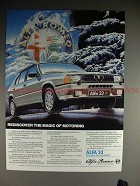 1985 Alfa Romeo Alfa 33 Ad - Rediscover Magic Motoring!