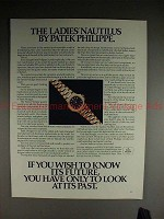 1985 Patek Philippe Ladies Nautilus Watch Ad, NICE!!