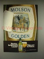 1981 Molson Beer Ad - Make Sure