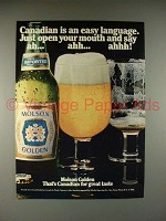 1982 Molson Golden Beer Ad - Canadian Easy Language