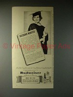1940 Budweiser Beer Ad - Husband Wanted!