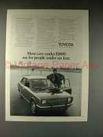 1970 Toyota Corolla Car Ad - Under $1800!