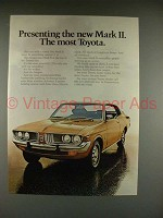 1972 Toyota Mark II Car Ad - The Most!