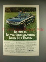 1972 Toyota Celica ST Car Ad - Let Insurance Know!