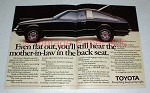 1978 Toyota Celica Liftback Car Ad - Even Flat Out!