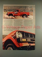 1979 Toyota 4WD Truck Ad - Oh What a Feeling!