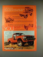 1979 Toyota 4WD Truck Ad - You Got It!