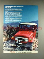 1979 Toyota Land Cruiser Hard Top Ad, in German