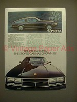 1980 Toyota Celica Supra Car Ad - Grown Up!