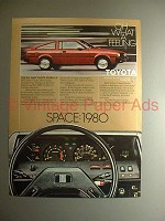 1980 Toyota Corolla SR-5 Sport Coupe Car Ad - Space!
