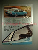 1980 Toyota Celica GT Liftback Car Ad - Lean, Clean