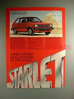 1981 Toyota Starlet Car Ad - Small Wonder of World