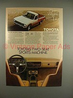 1981 Toyota SR5 Sport Truck Ad - Sports Machine!