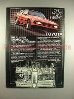1982 Toyota Supra Car Ad - It's The Right Stuff!