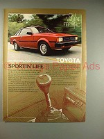 1982 Toyota Corolla Sports Hardtop Car Ad!