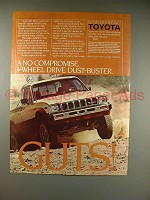 1983 Toyota 4x4 SR5 Long Bed Sport Truck Ad!