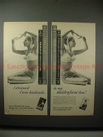 1959 2-page Maidenform Twice-over Bra Ad - Bookends!!