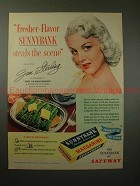 1953 Sunnybank Margarine Ad w/ Jan Sterling, Fresher!!