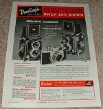 1956 Minolta TLR Autocord & 35mm A Camera Ad!