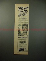 1950 RC Royal Crown Cola Ad w/ Shelly Winters, Feel New